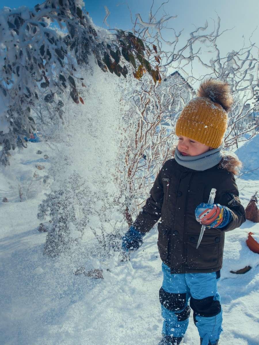 Zimní focení dětí v přírodě