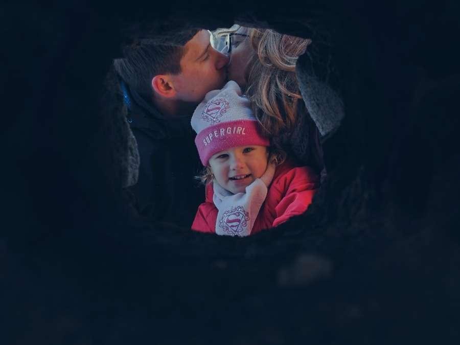 Rodinné zimní focení s dětmi