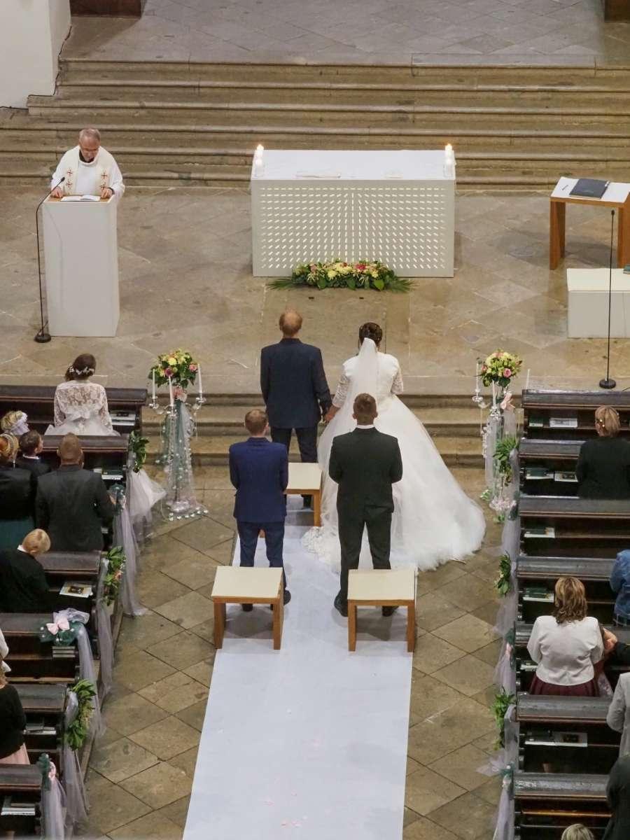 Focení kostelní svatby v Chrudimi