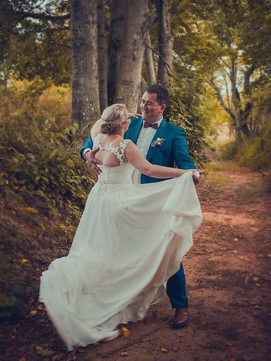 Svatební focení tanec ženicha a nevěsty