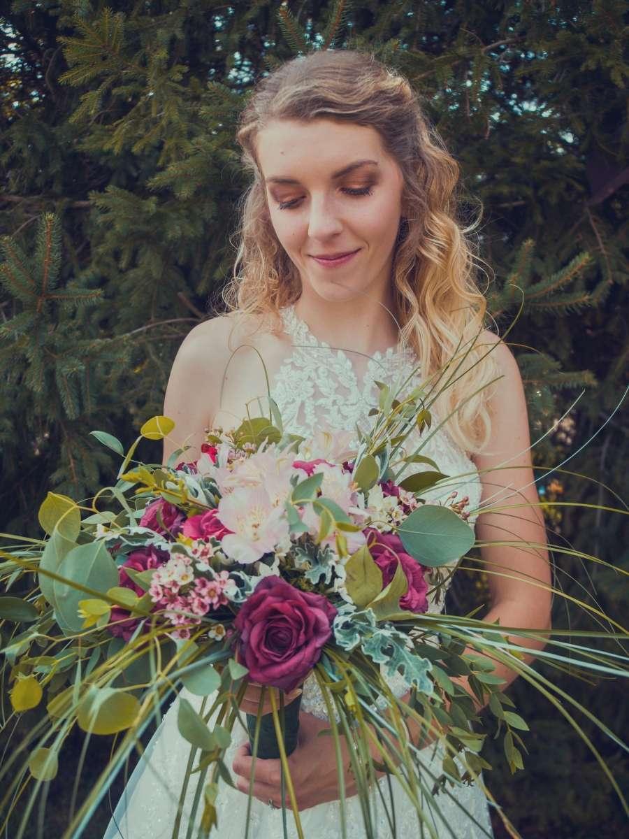Svatební kytice profesionální fotograf
